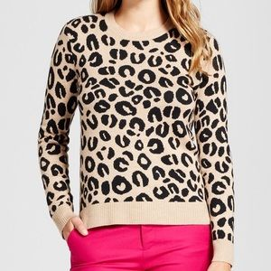 A New Day Leopard Print Pullover Sweater XL
